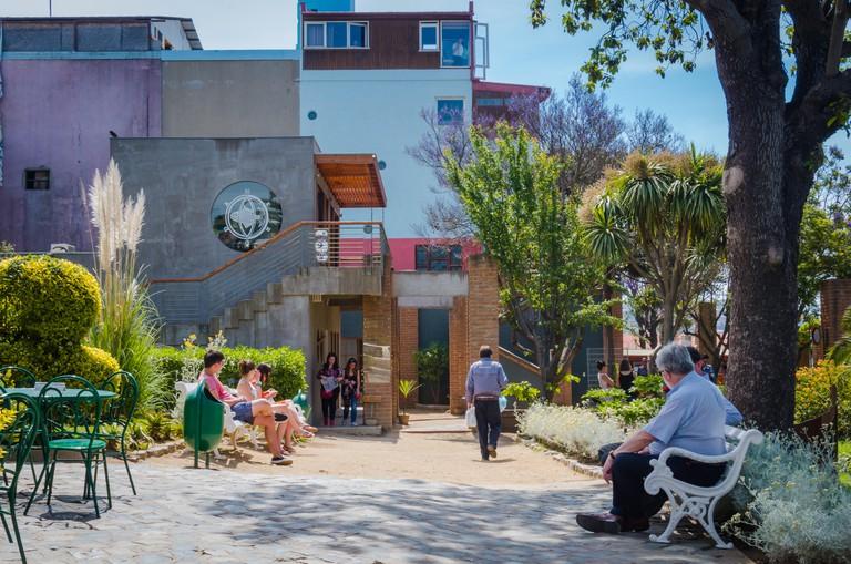 Valparaiso, Chile - November 01 2014: Pablo Neruda house, La Sebastiana at Valparaiso