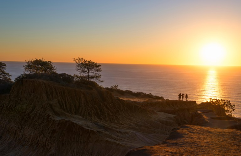Torrey Pines State Natural Reserve at sunset.  La Jolla, California, USA.