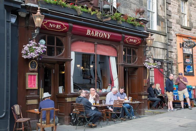 Barony Bar and Pub, Edinburgh; Scotland; UK