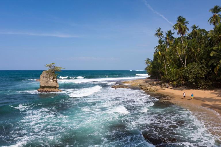 Costa Rica, Limon Province, Caribbean coast, Gandoca-Manzanillo national wildlife refuge, Manzanillo, mirador Manzanillo, Miss may point
