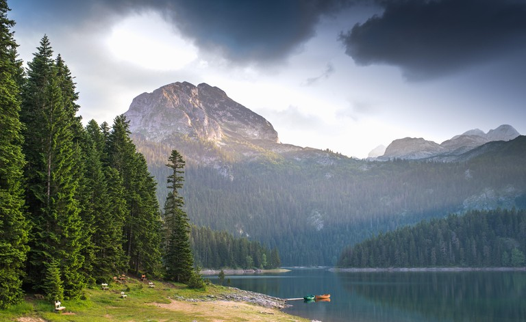 Small lake and mountain in Durmitor national park
