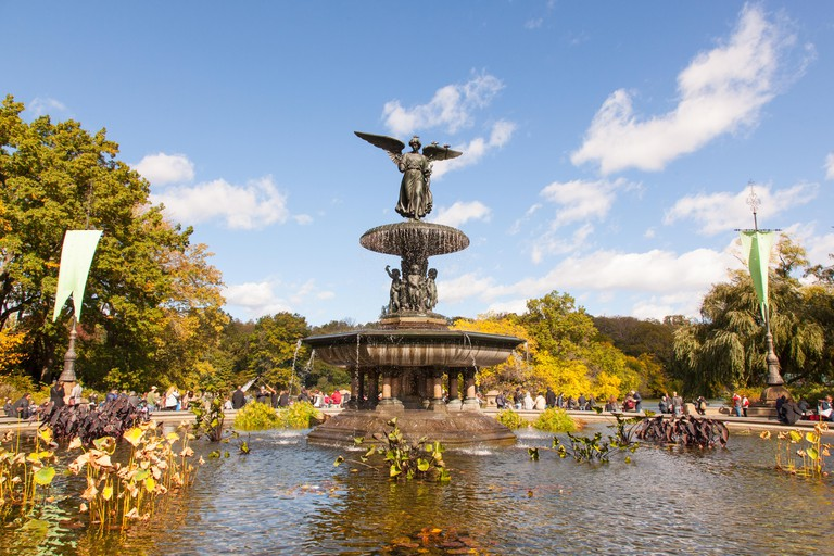 Bethesda Fountain, Bethesda Terrace, Central Park, New York City, United States of America.