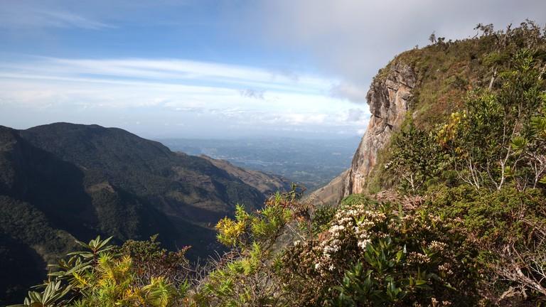 View of landscape from Horton Plains National Park, Central Province, Sri Lanka