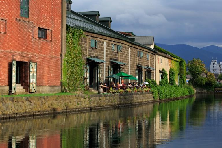 Canal, Otaru City, Hokkaido Prefecture, Japan, Asia