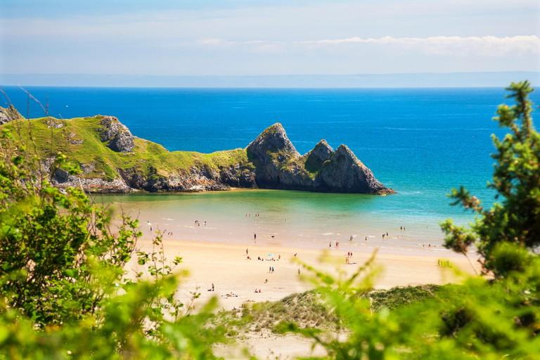 Three Cliffs Bay, Gower, Wales, UK