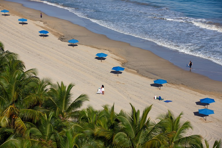 Elevated view of Isla Verde beach,  Carolina, San Juan, Puerto Rico