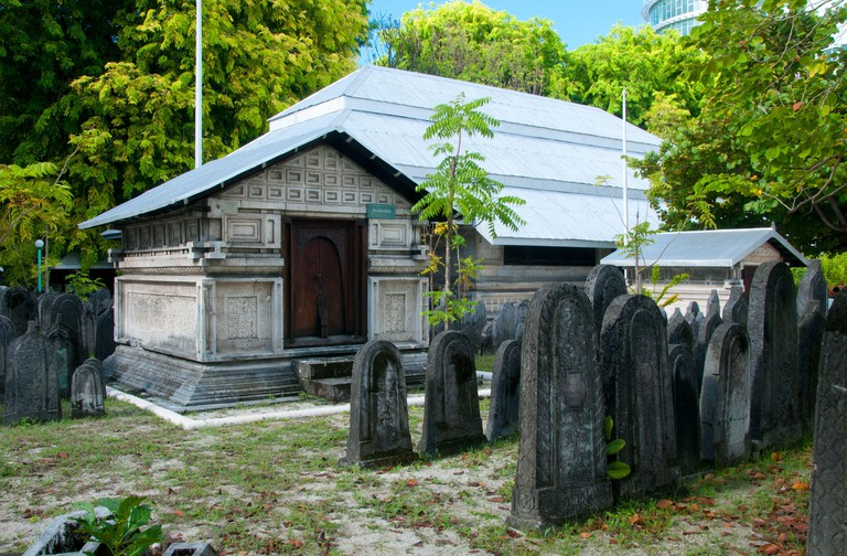 The Hukuru Miskiiy (Friday Mosque) is the most important mosque in the Maldives. Originially constructed c.1153 at the time of the conversion to Islam on the orders of Sultan Muhammad al-Adil, it was restored in 1338, and subsequently renewed and enlarged