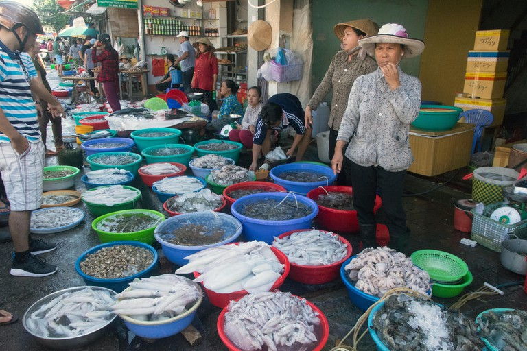 Amazing seafood market (and amazing smell) of Vung Tau, Vietnam.