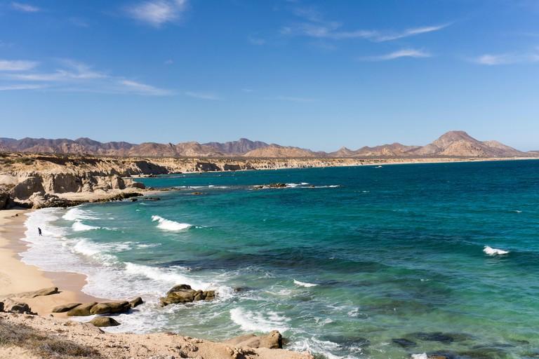 Beach and sea, Cabo Pulmo, UNESCO World Heritage Site, Baja California, Mexico, North America