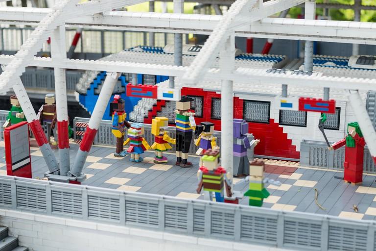 Kuala Lumpur's Sentral station modeled in the miniland exhibit in Legoland Malaysia, Johor
