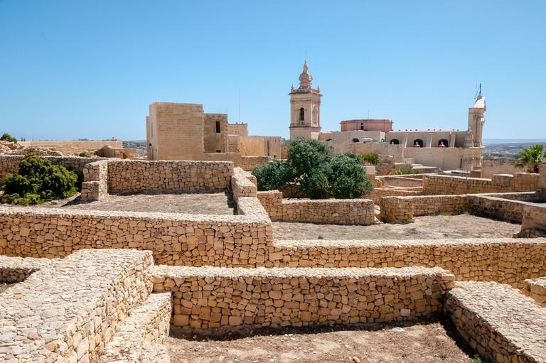 Medieval citadel on the island of Gozo, Malta
