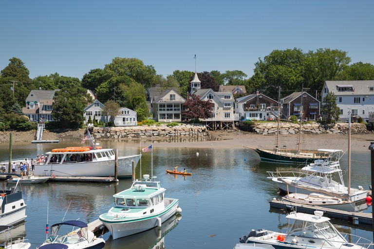 Kennebunkport New England Maine USA on a sunny afternoon