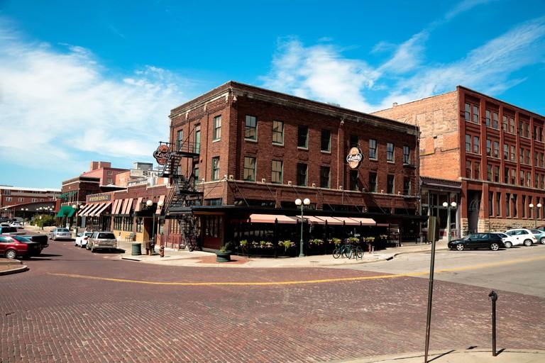 P Street, Haymarket District, Lincoln, Nebraska, USA