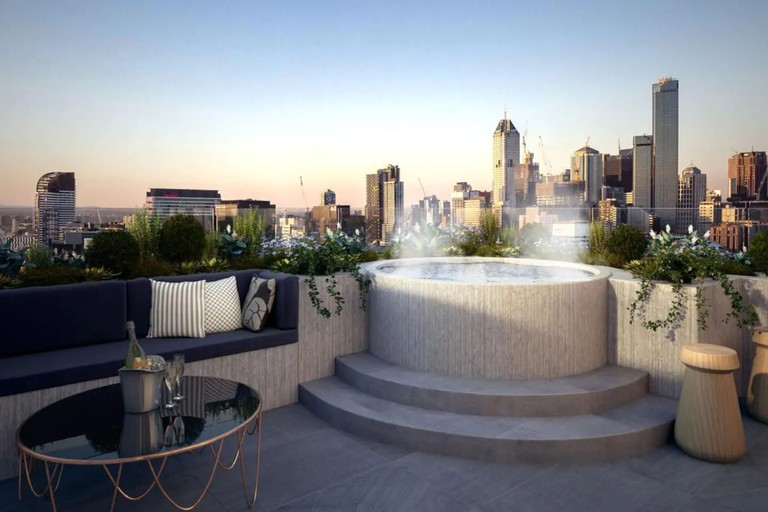 Light-filled space with shared rooftop terrace