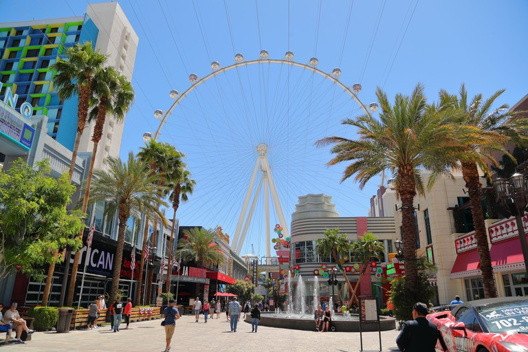 The Linq entertainment district in Las Vegas, Nevada, USA
