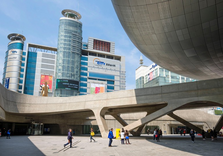 South Korea,Seoul,Jung-gu district,the Dongdaemun Design Plaza,also called the DDP,by the architect Zaha Hadid,is a major urban development landmark inaugurated on March 2014