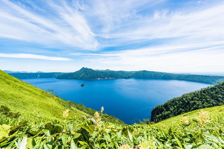 Lake Mashu,Akan National Park,Mashu-ko, Hokkaido, Japan
