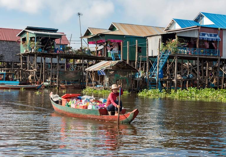 MKW0HR Kompong Phluk Floating Village, Tonle Sap Lake, Cambodia