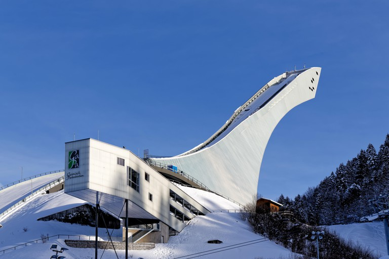 Big Olympic ski jump - Garmisch Partenkirchen.GroBe Olympiaschanze - Garmisch-Partenkirchen.