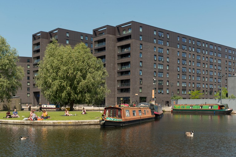 The industrial suburb of New Islington following an extensive regeneration project located in Ancoats, Manchester, UK.