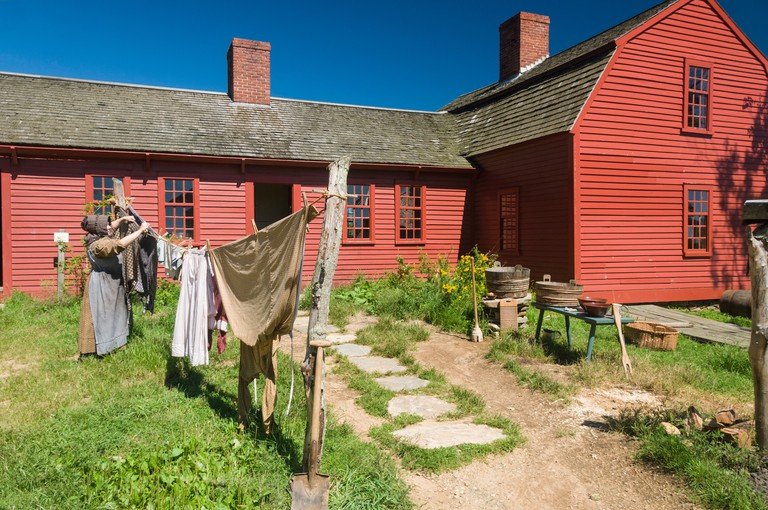 Recreating past times at Old Sturbridge Village, a museum depicting early New England life, Massachusetts, New England, USA