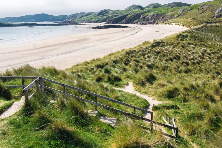 Oldshoremore sand beach, Scotland