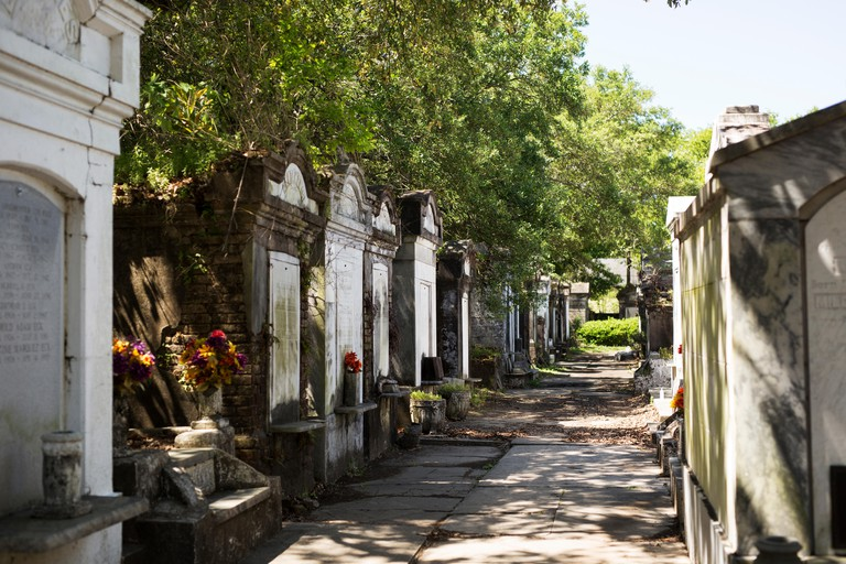 Lafayette Cemetery No. 1 in the Garden District of New Orleans, Louisiana.