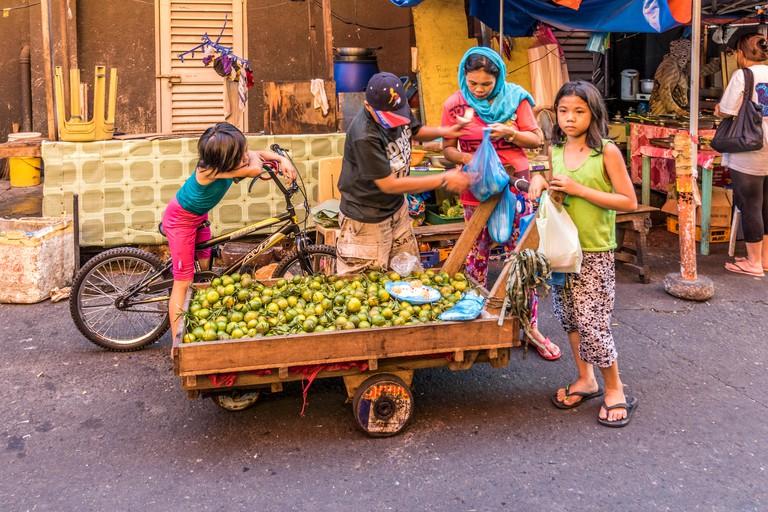 Street life Quiapo Manila Luzon Philippines