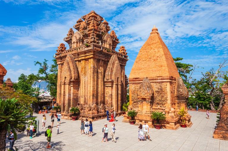 NHA TRANG, VIETNAM - MARCH 15, 2018: Ponagar or Thap Ba Po Nagar is a Cham temple tower near Nha Trang city in Vietnam