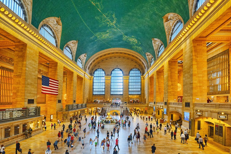 New York, USA- September 05, 2017 :  Grand Central Terminal- railroad terminal at 42nd Street and Park Avenue in Midtown Manhattan in New York City, U
