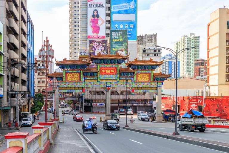 Binondo, Manila, Philippines - July 29: Chinatown Gate Entering Binondo