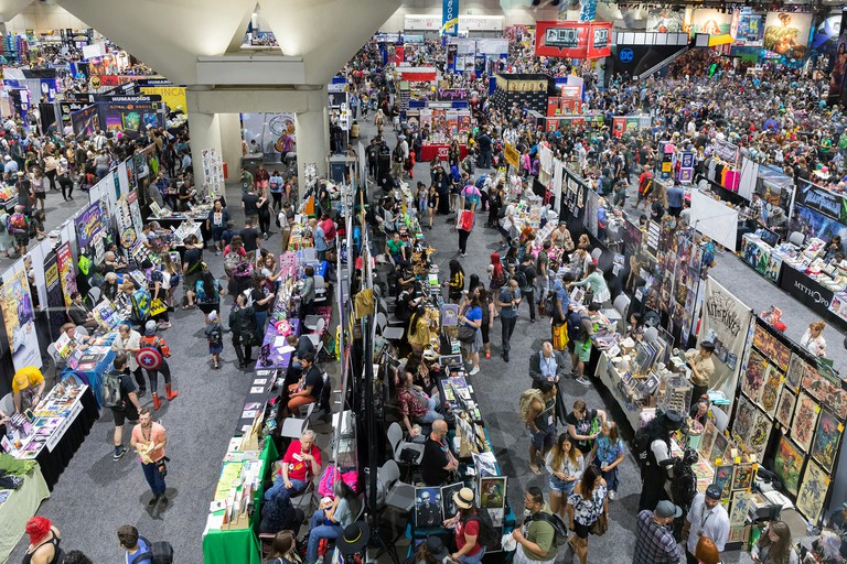 Overview of exhibit hall at San Diego Comic Con 2018