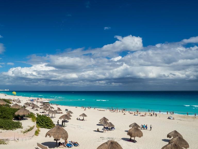 Playa Chac Mool Beach, Cancun, Mexico, South America