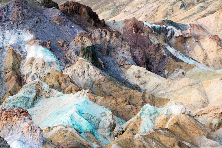 The Artists Palette on Artists Drive at Death Valley National Park in California