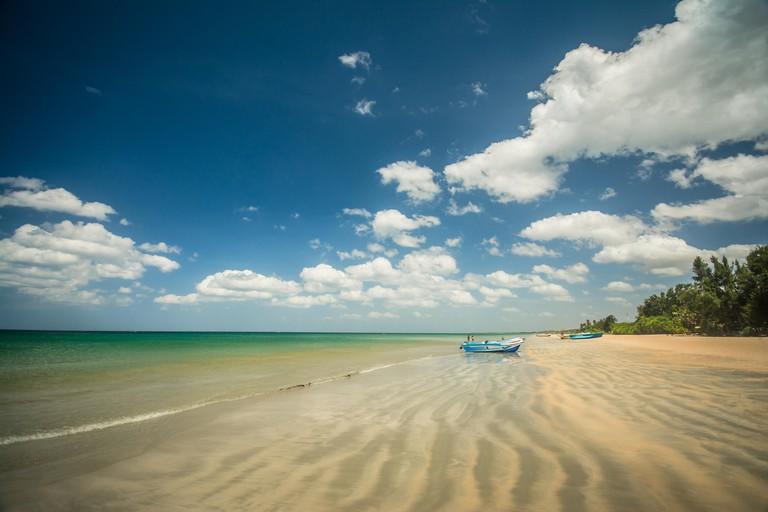 Nilaweli beach and pigeon Island Sri Lanka