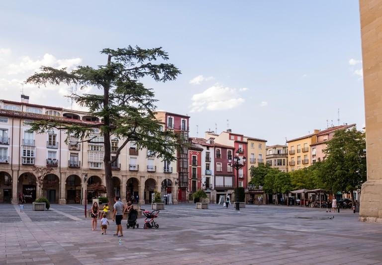 Plaza de la Constitucion. Logrono. La Rioja. Espana