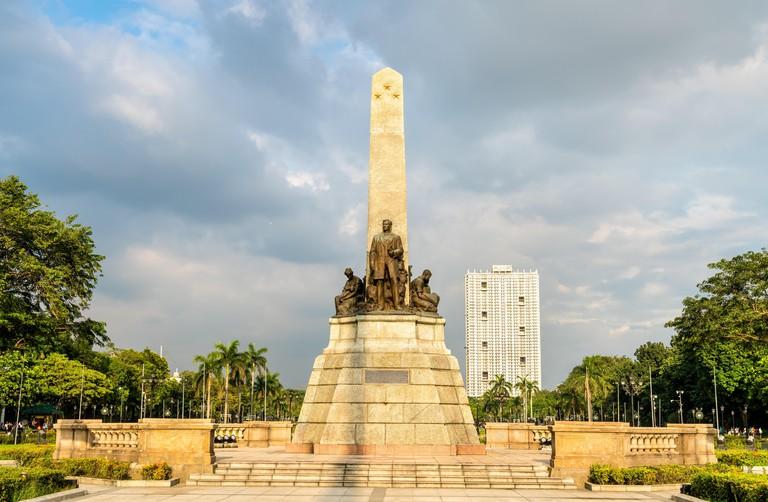 The Rizal Monument in Rizal Park - Manila, Philippines