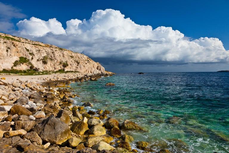 Hondoq ir-Rummien, Gozo Island, Malta, Europe