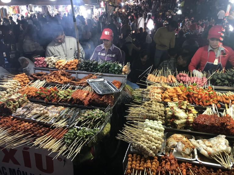 A night market in Dalat, Vietnam