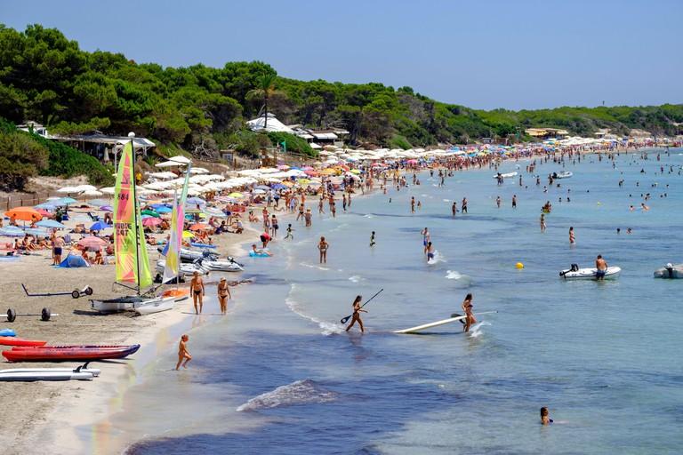 Ses Salines Beach, Sant Jordi de Ses Salines, Ibiza, Balearic Islands, Spain.