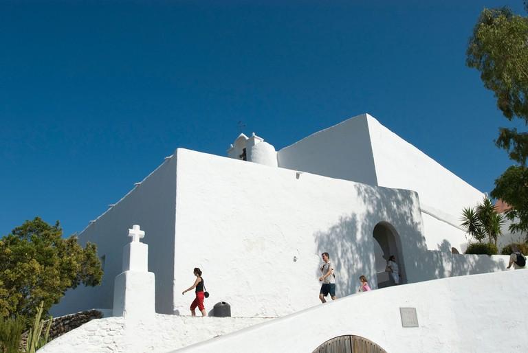 Church at Santa Eulalia, Ibiza, Balearics, Spain