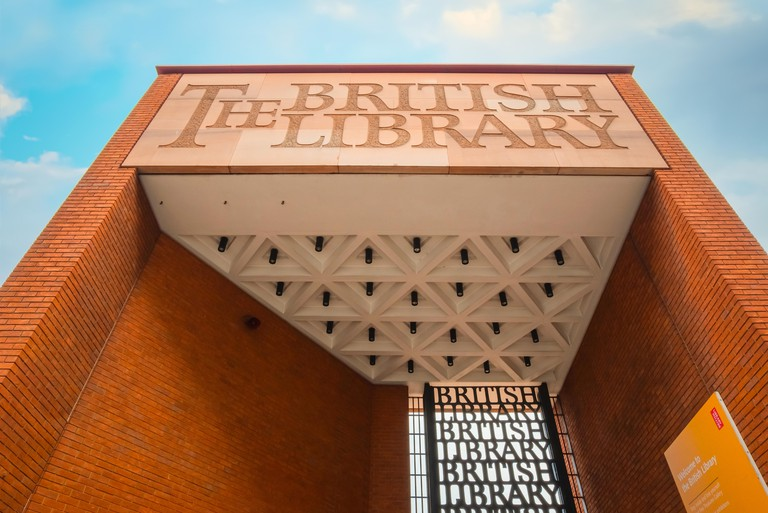 London, UK - May 12 2018: The British Library is the UK's national library and the largest national library in the world by number of items catalogued
