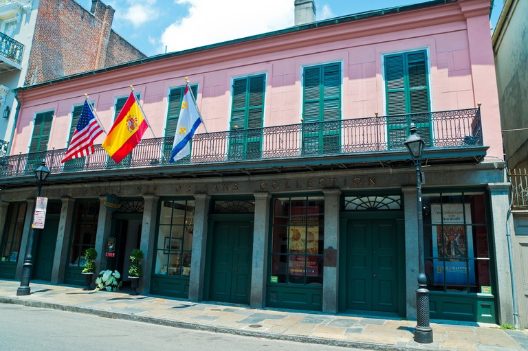 18th century home of Jean Francois Merieult. Built in 1792 at 533 Royal Street in the French Quarter of New Orleans.. Image shot 2011. Exact date unknown.