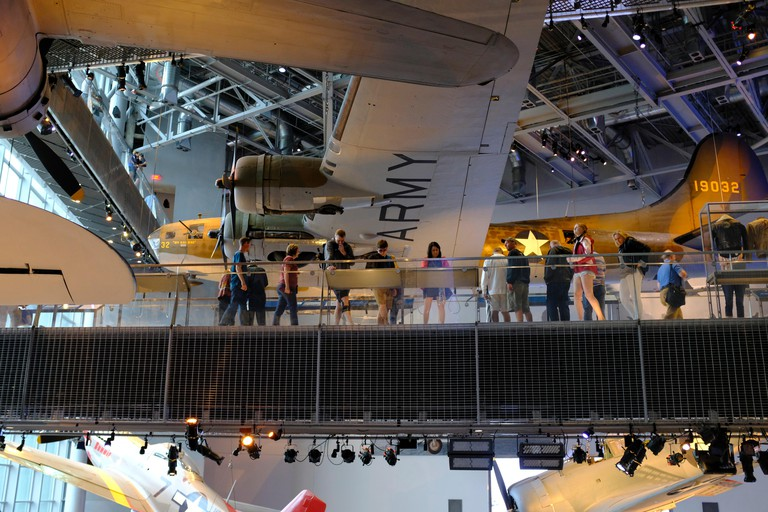 World War II era aircraft in the National World War II Museum in New Orleans, Louisiana