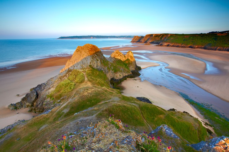 Three Cliffs Bay, Gower peninsula, Swansea, Wales