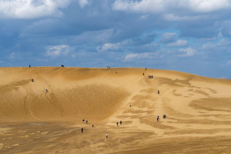 Tottori Sand Dunes (Tottori Sakyu). The largest sand dune in Japan, a part of the Sanin Kaigan National Park in Tottori Prefecture, Japan