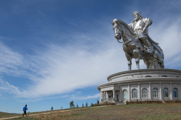 The largest Equestrian statue in the world near to Ulaanbaatar in Mongolia. Known locally as the Big Chinggis statue of Genghis Khan
