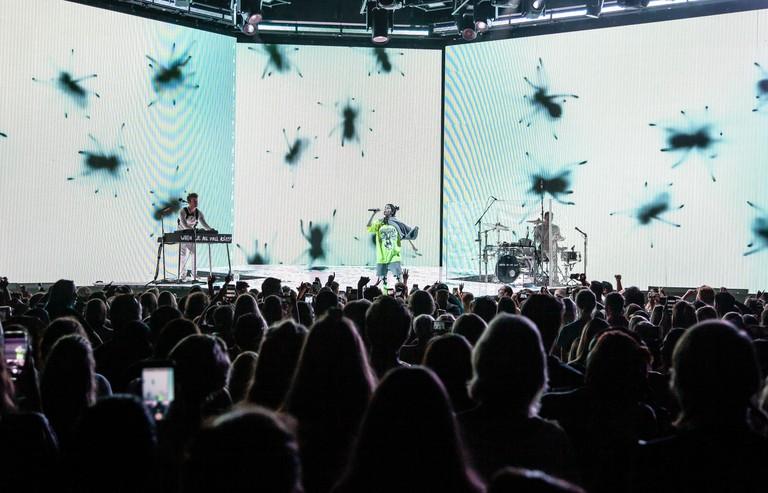 Atlanta, Georgia, USA. 23rd June, 2019. Billie Eilish performs live in concert at Atlanta's Cadence Bank Ampitheatre - Chastain Park on June 23, 2019 in Atlanta, Georgia. Photo: Ryan Fleisher/imageSPACE/MediaPunch Credit: MediaPunch Inc/Alamy Live News