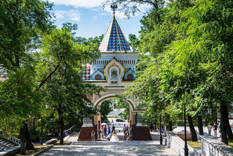 The Nicholas Triumphal Gates, Vladivostok, Russia