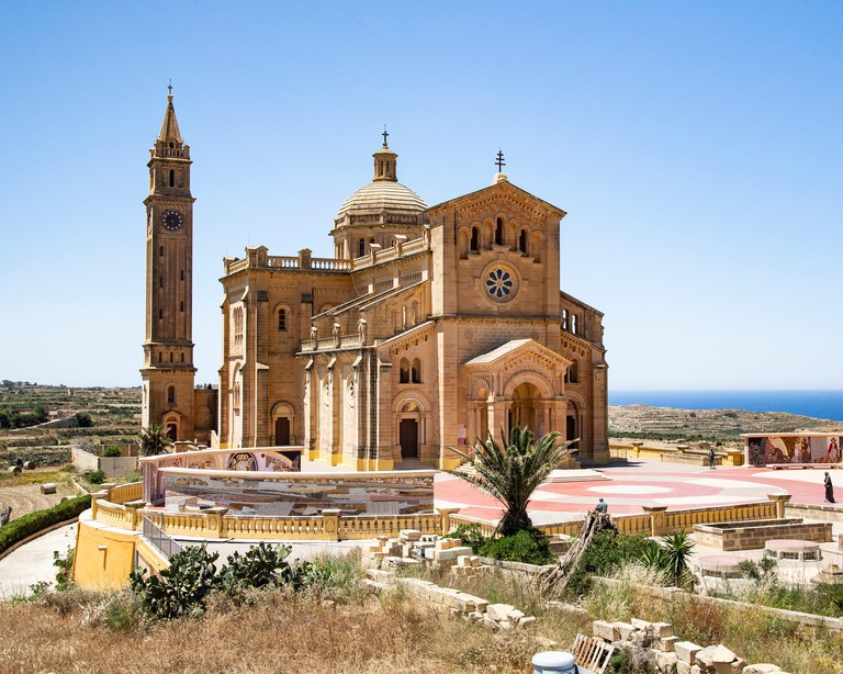 The Basilica of the National Shrine of the Blessed Virgin of Ta' Pinu on Gozo, near Malta